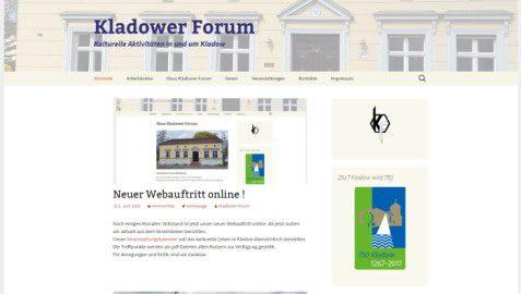 Neue Webseite nach Neugestaltung. Stand Juni 2016.